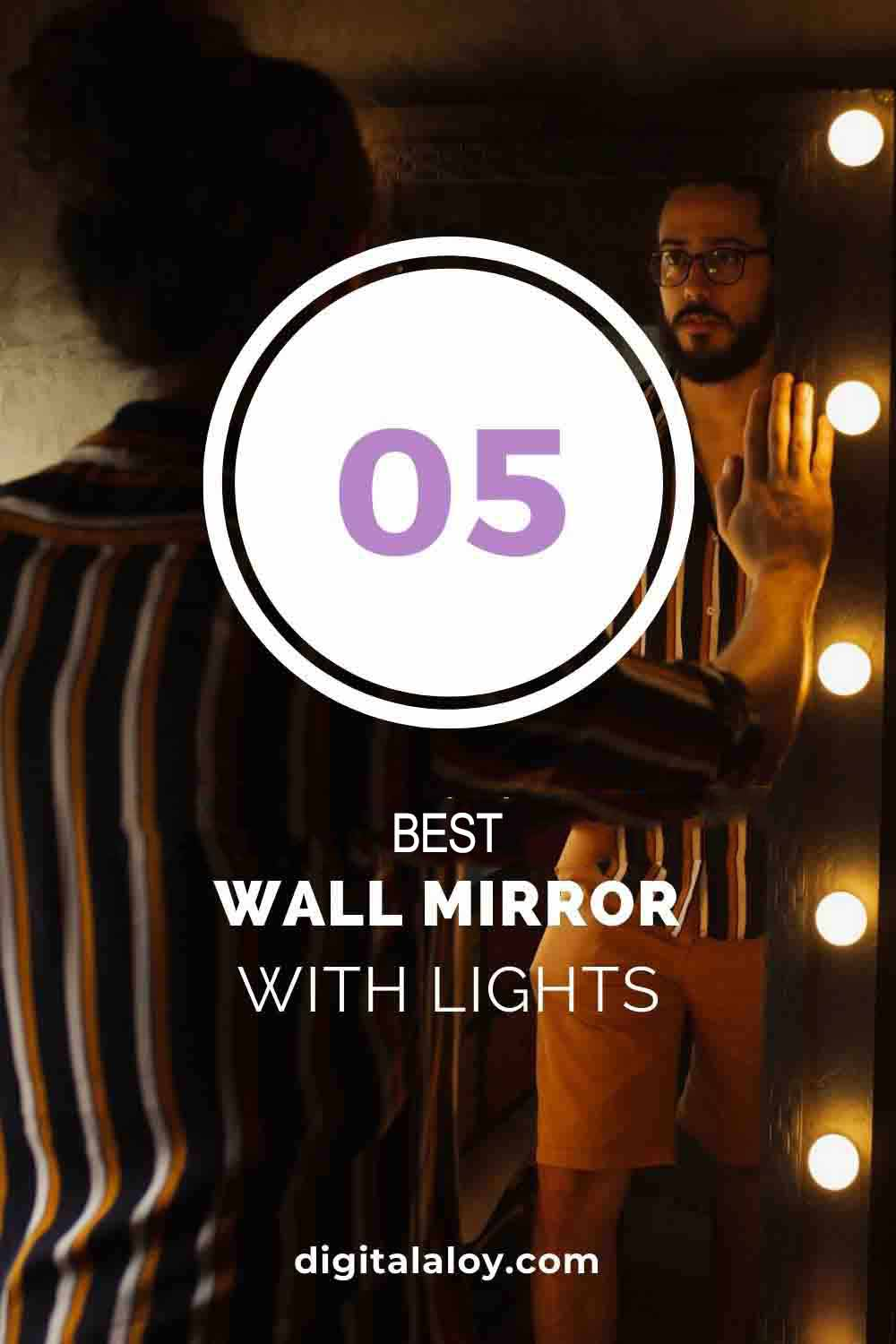 Best Wall Mirror with Lights pin