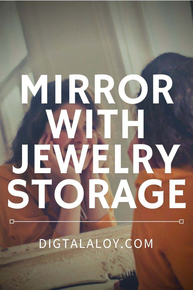 full length wall mirror with jewelry storage-pin