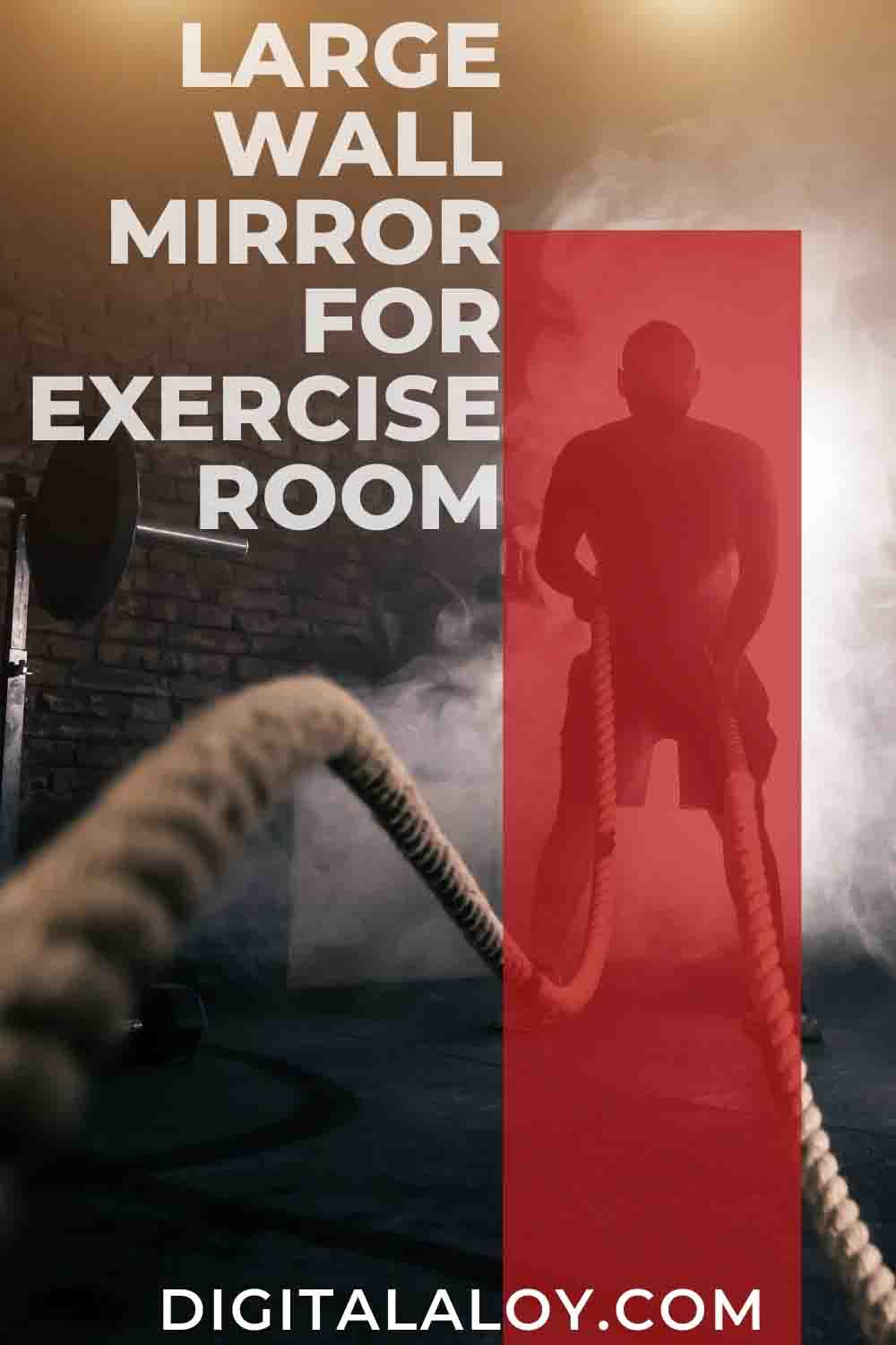 large wall mirror for exercise room pin