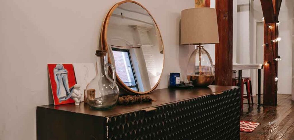 decorate a dresser with a mirror